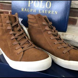 Polo Ralph Lauren Gaven Suede High Top Sneaker NIB
